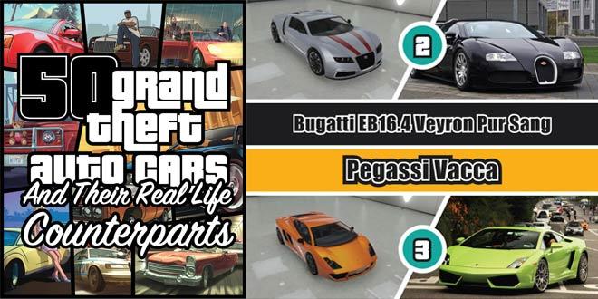 Los coches de GTA V en la vida real