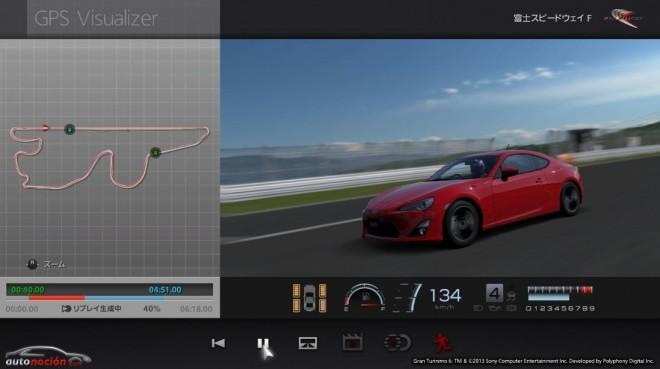 Ahora es posible grabar los datos en circuito con el GT-86 y descargarlos en Gran Turismo 6