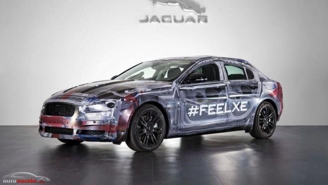 Jaguar nos muestra una mula de pruebas del XE, su futura berlina compacta