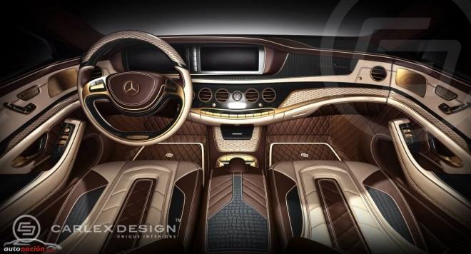 Carlex Design propone oro de 24 quilates y piel de cocodrilo para el Mercedes Clase S