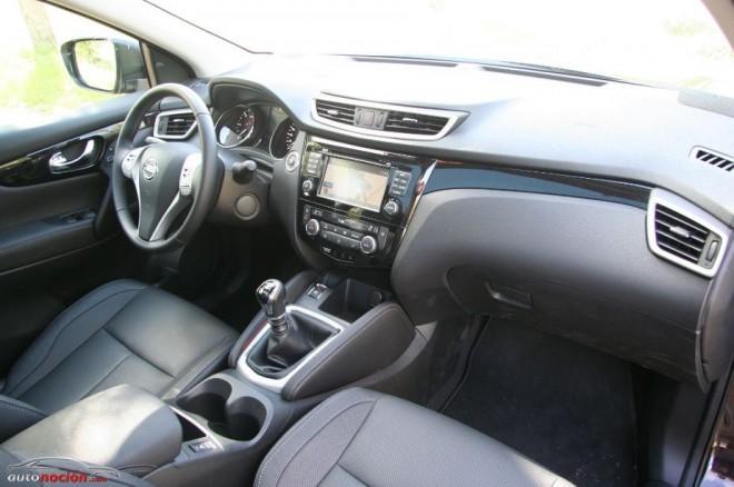 Opinion y prueba nissan qashqai tekna 1 6 dci 130 precio for Nissan qashqai 2014 interior