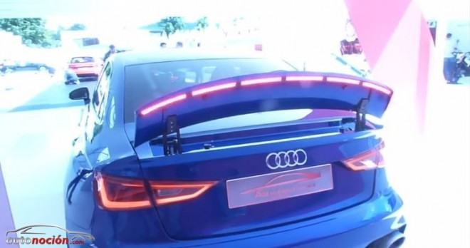 Audi equipa un aerofreno en el salvaje A3 clubsport quattro concept