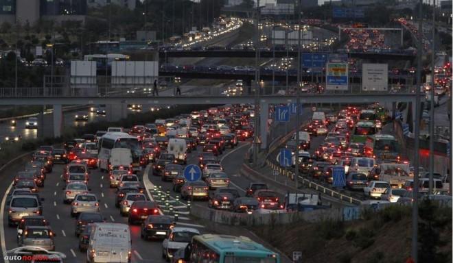 Madrid, sumida en el caos el 'Día Sin Coches': Los atascos han crecido hoy un 89% en la capital