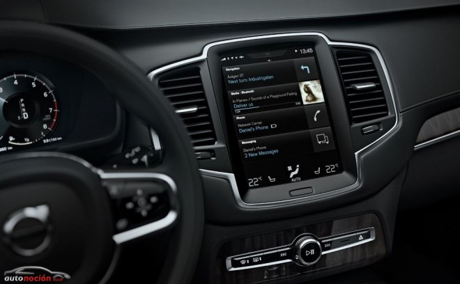 El Volvo XC90 nos ofrecerá una experiencia de conducción más intuitiva gracias a Sensus y a Apple CarPlay