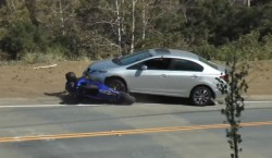 honda yamaha accidente