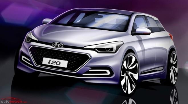 Hyundai nos muestra el aspecto del nuevo i20: Ganando en atractivo…