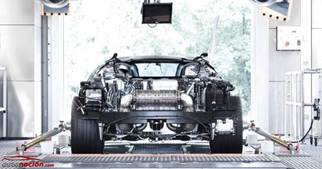 Al detalle: El motor W16 del Bugatti Veyron, sus 1.200 cv y sus 1.500 Nm de par