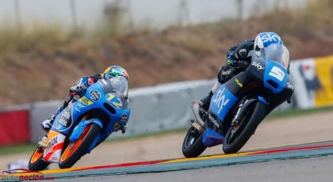 Resumen Moto3 y Moto2 Motorland: Márquez líder de Moto3 y Viñales gana en Moto2