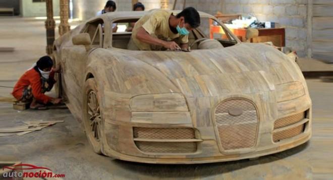 ¿Un Bugatti Veyron de madera de teca?: Artesanía por 2.600 euros