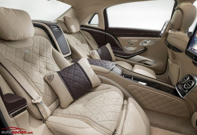 plazas traseras maybach s 600