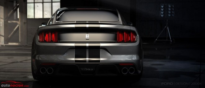 trasera ford mustang gt350 shelby