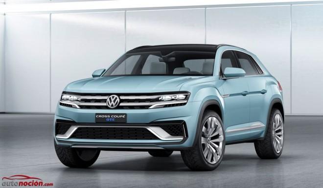 Volkswagen Cross Coupé GTE: El paso previo a la versión definitiva del próximo SUV mediano con MQB