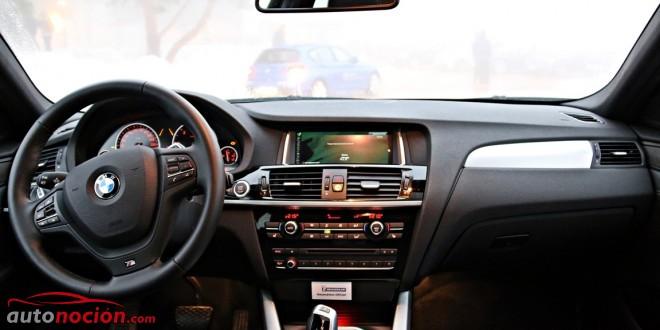 El interior del BMW X4 está bien rematado, pero no resulta tan agradable visualmente como