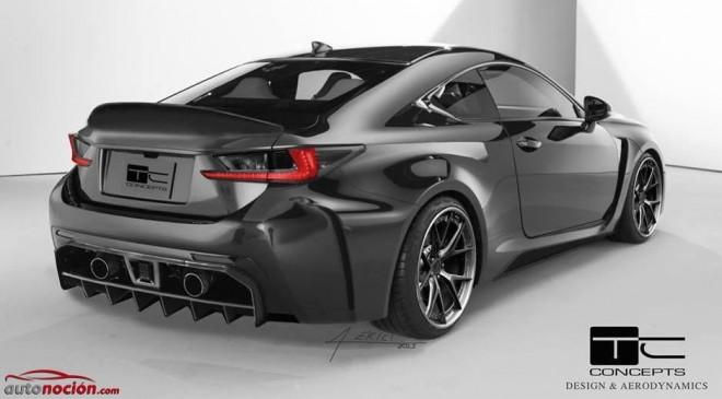 El Lexus RC F recibe su primer kit de carrocería de la mano de TC Concept