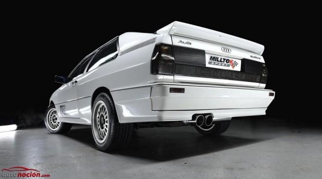 Milltek ofrece su línea para clásicos «Milltek Classic» con el Audi Quattro como abanderado
