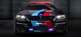 frontal BMW M4 coupé safety car motor GP