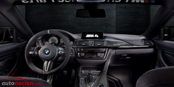 interior BMW M4 coupé moto GP