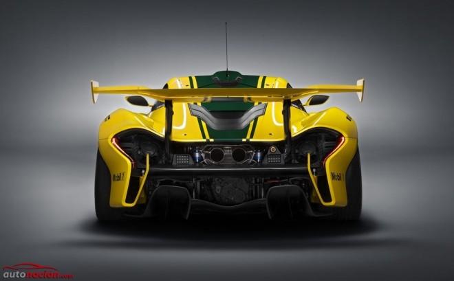 El aspecto del McLAREN P1™ GTR es impresionante: La fuerza de 1.000 caballos desbocados