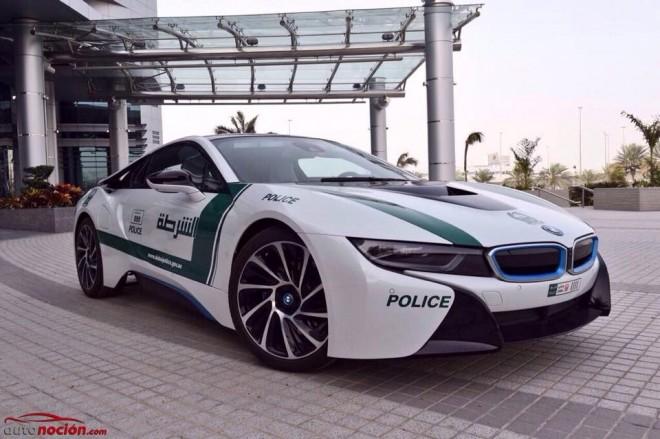 El último capricho de la policía de Dubái es…¡Un BMW i8!