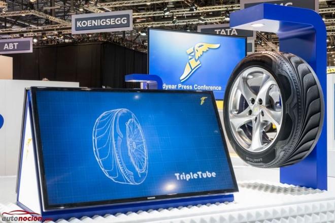 Goodyear presenta el Triple Tube, el neumático que se transforma
