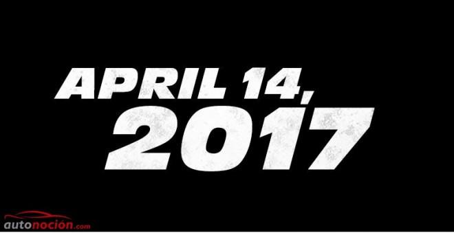 Confirmado, Fast & Furious 8 ya tiene fecha 14-04-2017