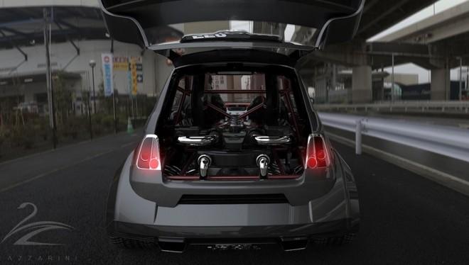 Fiat 550 prototipo UNO: Un motor V8 de Maranello en un pequeño 500 modificado para costar 512.000 euros
