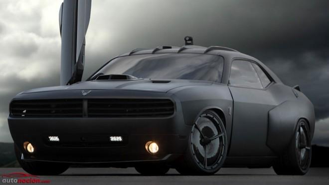 El deportivo del US Air Force se llama Dodge Hellcat Vapor y equipa incluso misiles