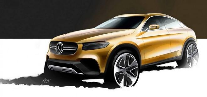 Primer boceto oficial del Mercedes-Benz GLC, el SUV derivado de la Clase C