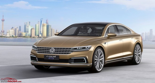 """Volkswagen C Coupé GTE: El futuro de los """"coupés"""" de cuatro puertas del fabricante"""