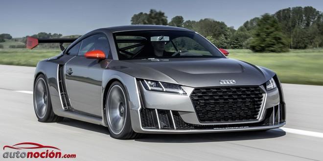 Nuevas imágenes del espectacular Audi TT clubsport turbo concept: 600 CV y una imagen rompedora