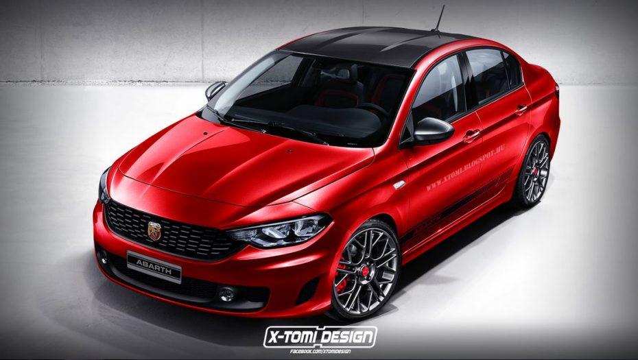 Así sería la variante Abarth del Fiat Aegea, ¿No os parece espectacular?