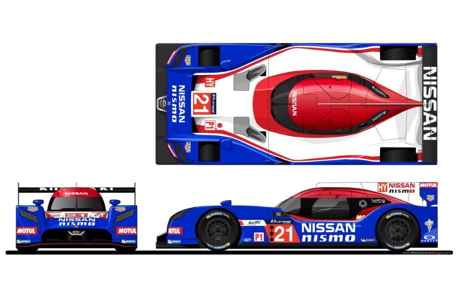 Nissan conmemora la pole en Le Mans de 1990 con una decoración retro