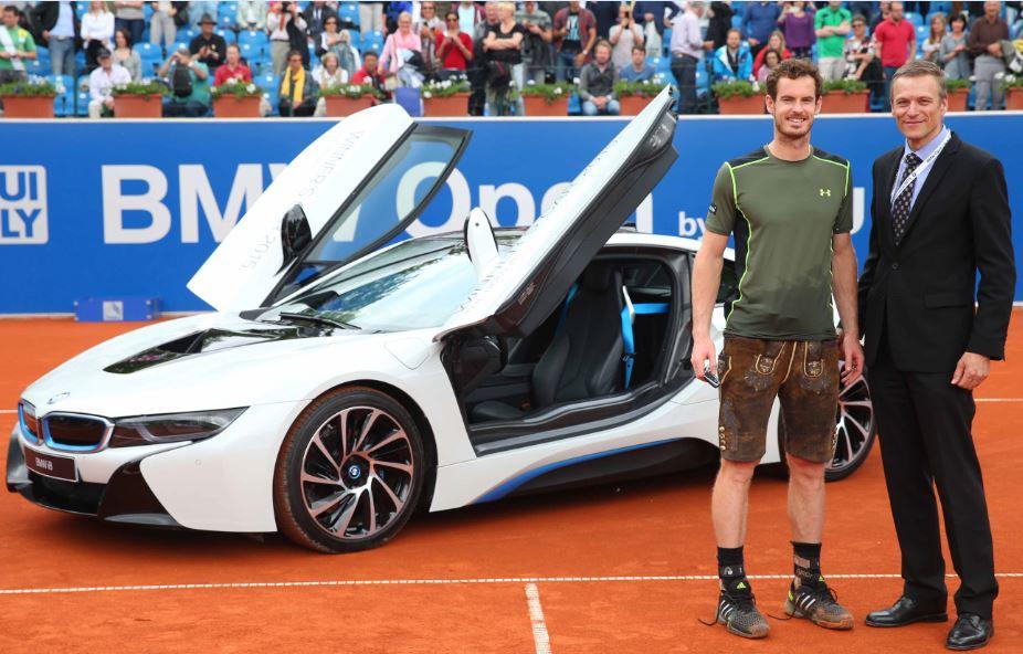 Pues sí, no está nada mal el BMW i8 que se ha llevado Andy Murray por ganar el BMW Open