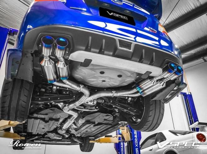Así es el escape que Rowen International ha diseñado para el Subaru WRX STI