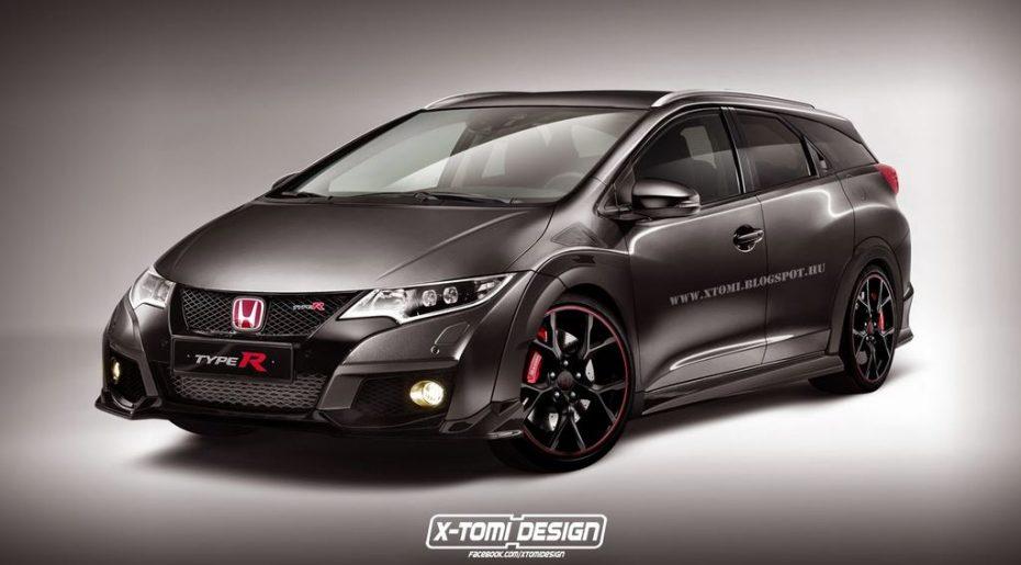 ¿Qué os parece esta propuesta?: Un Honda Civic Type R en carrocería Tourer…
