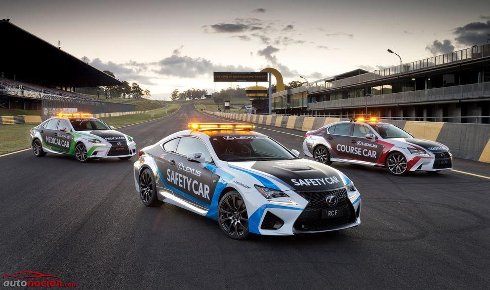 Lexus nos presenta los vehículos de seguridad del Campeonato V8 Supercars