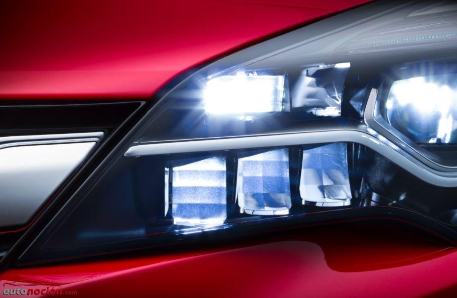 Opel IntelliLux: El sistema Full LED que equipará el Astra K y que irá siempre que se pueda con la luz de carretera…