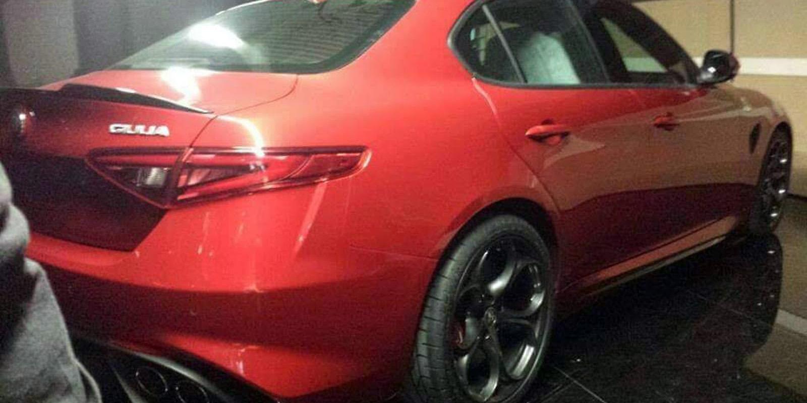 Filtrado el Alfa Romeo Giulia horas antes de su debut: Deportividad y un estilo sublime