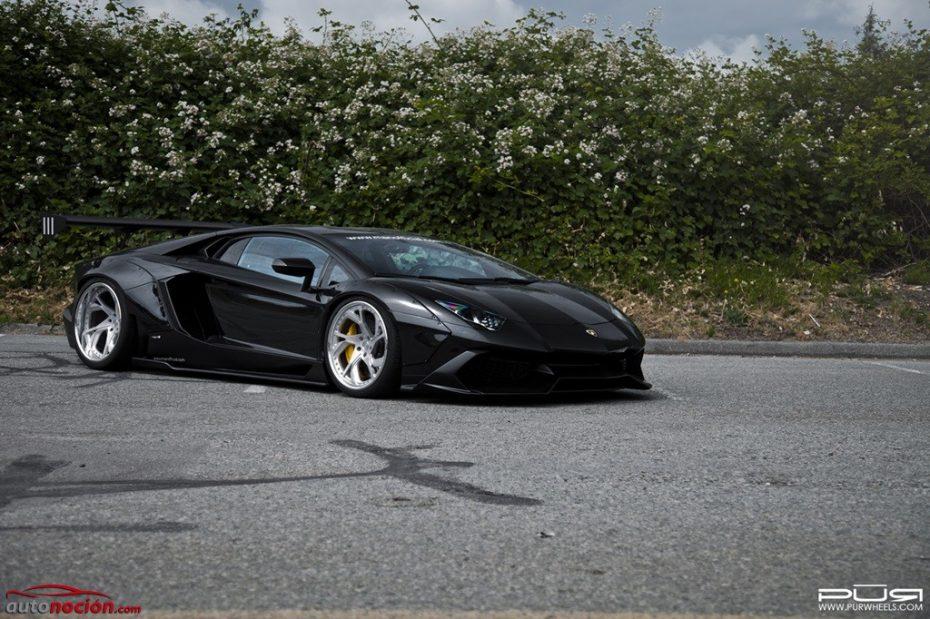 'Carporn' en estado puro: Así de salvaje luce el Lamborghini Aventador de Liberty Walk