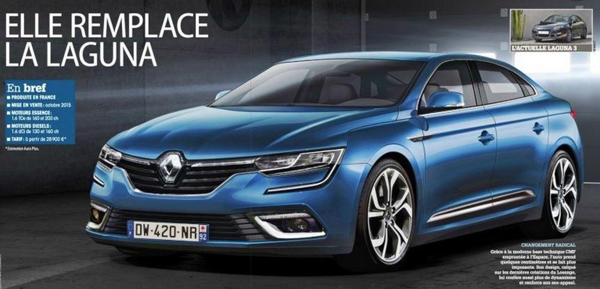Dicen que así será el Renault Laguna IV, ¿qué os parece?