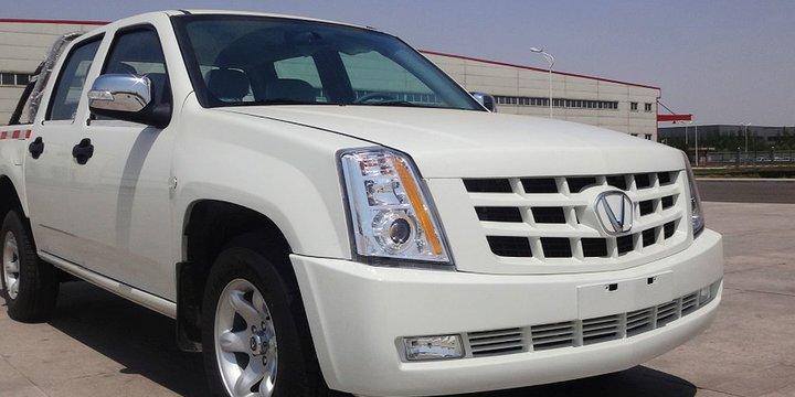 La copia china del Cadillac Escalade EXT no tiene precio: Con plataforma Isuzu de los años 90