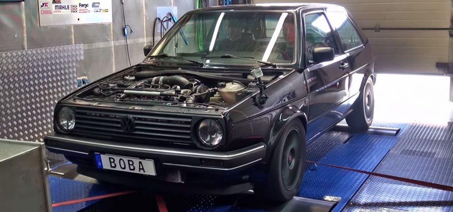 ¿De 100 a 200 km/h en 3.03 segundos?: Sí, este Golf MK2 2.0L 16V Turbo de 1989 con 1233 CV puede