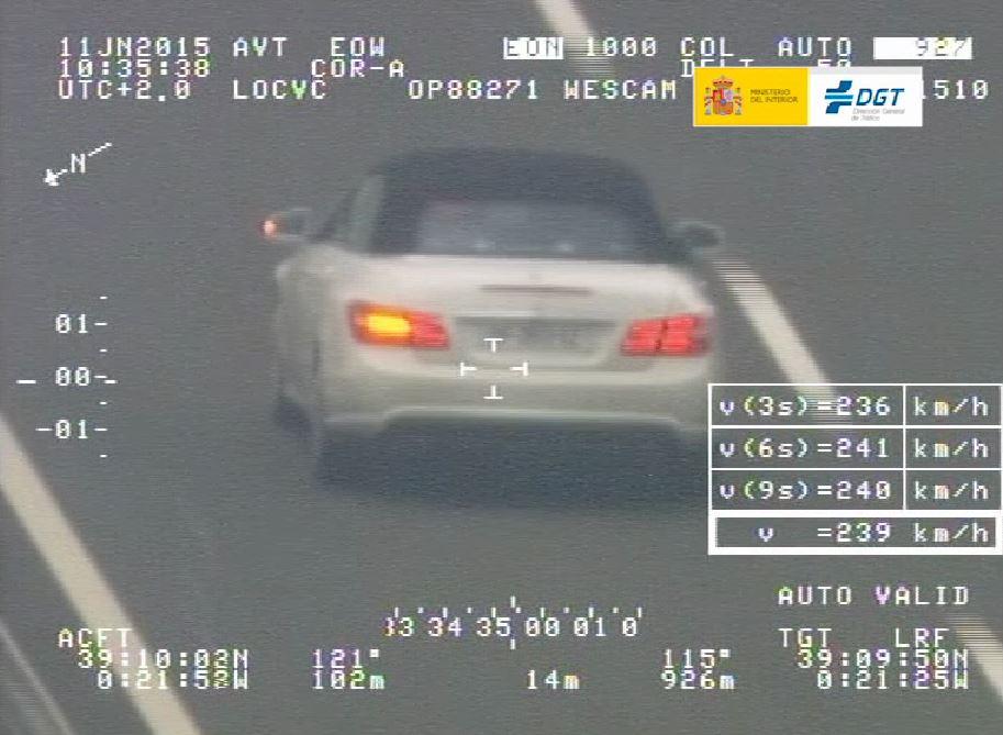 Menos del 5% de los vehículos controlados por la DGT fueron denunciados por exceso de velocidad