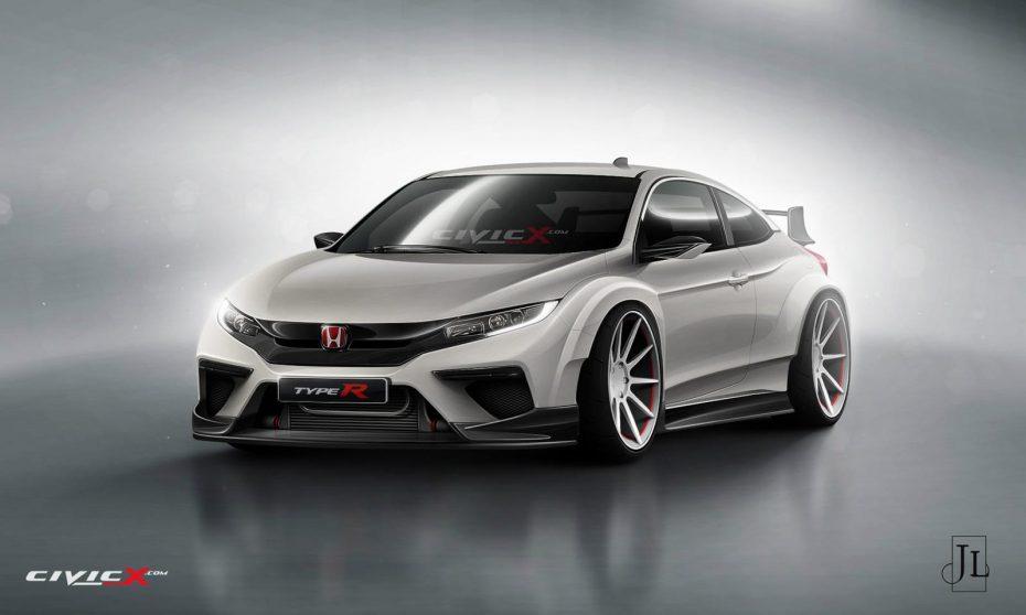 Un nuevo render demuestra el potencial de un posible Honda Civic Type R Coupé