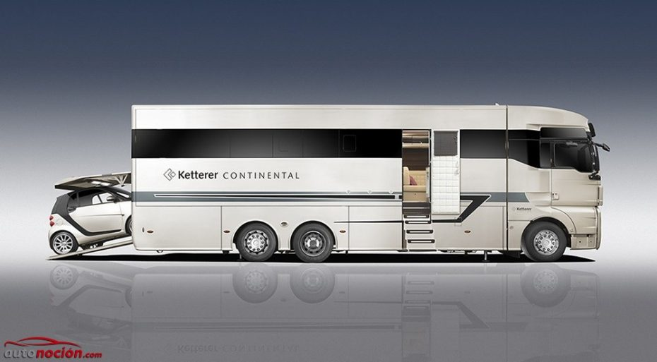 Ketterer Continental: una gigantesca caravana de lujo que te servirá de nave nodriza para tu smart