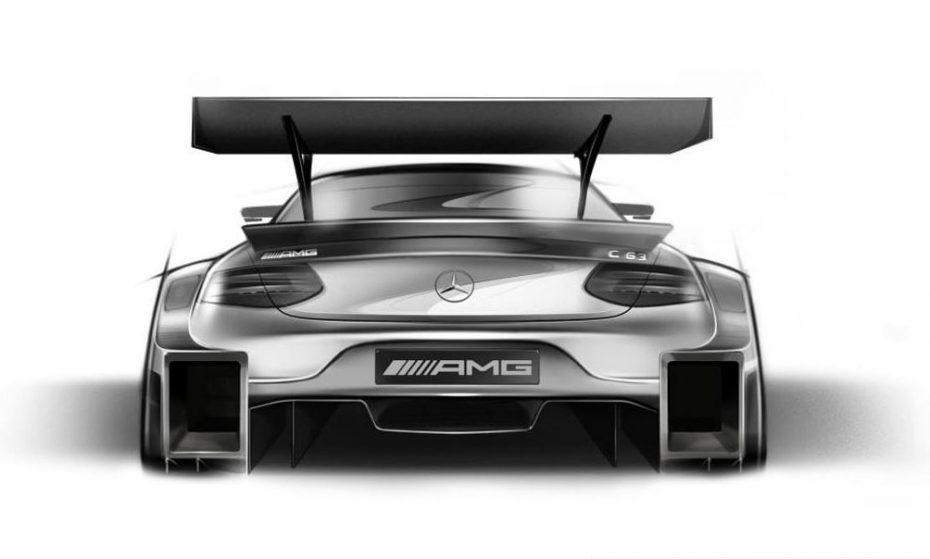 Mercedes-AMG muestra los primeros bocetos del C 63 DTM 2016: ¡Salvaje!
