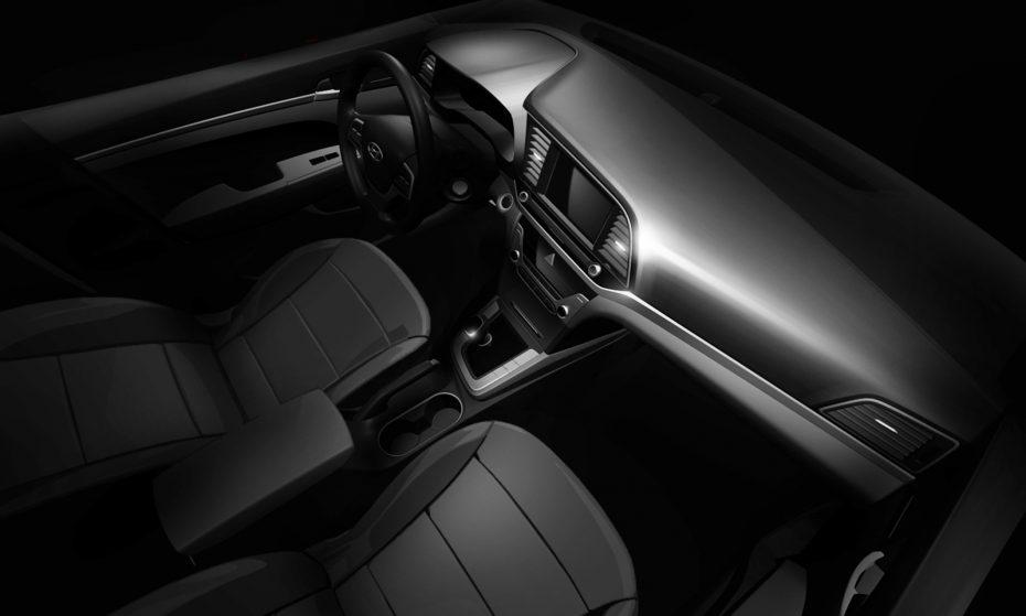 Primera imagen del interior del nuevo Hyundai Elantra: Un toque más sobrio para la berlina compacta