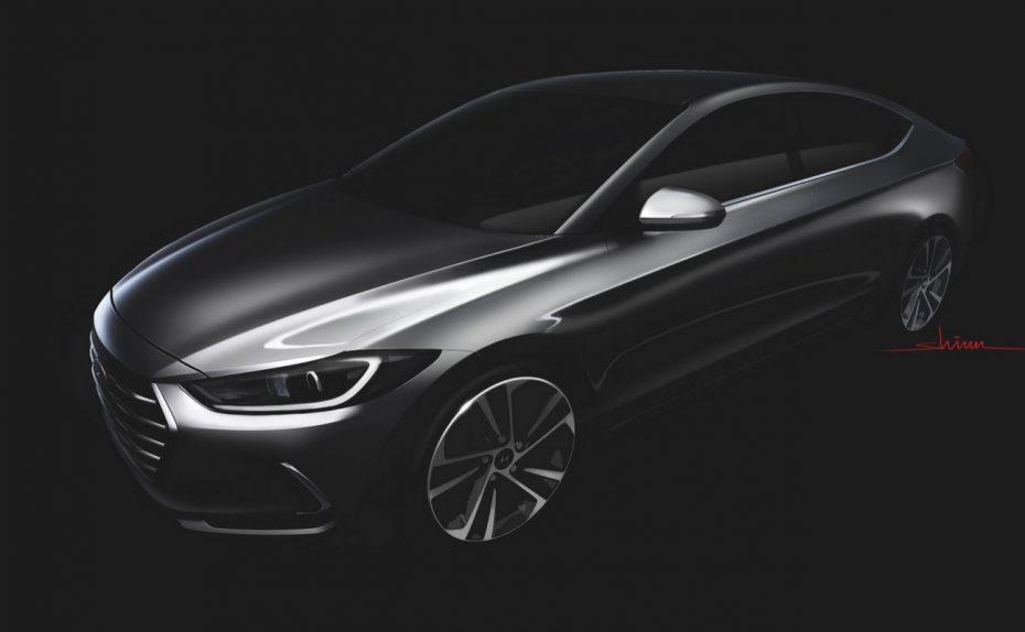 Un primer teaser que adelanta el aspecto de la sexta generación del Hyundai Elantra