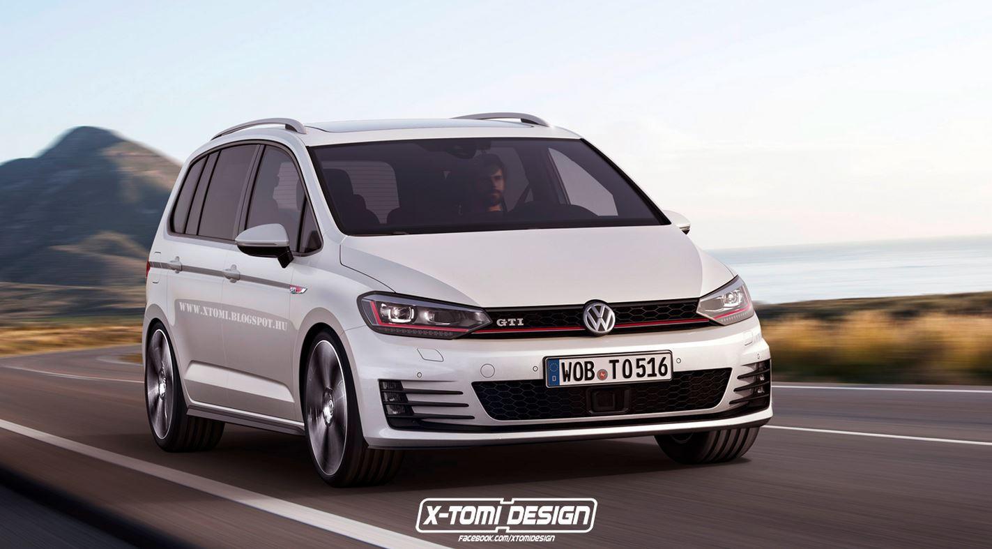 No estaría nada mal ver una Volkswagen Touran GTI como esta, ¿verdad?