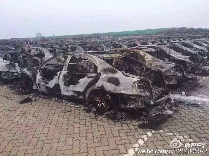 Dolor, mucho dolor: La catástrofe de Tianjin deja 20.000 vehículos nuevos de Brabus, Jaguar, Land Rover o Renault afectados